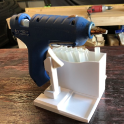Capture d'écran 2018-02-27 à 11.17.25.png Download free STL file Glue Gun Caddy Stand w Cord Wrap • Object to 3D print, MeesterEduard