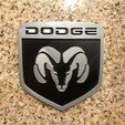 Download free STL files Dodge Ram Logo Sign, MeesterEduard