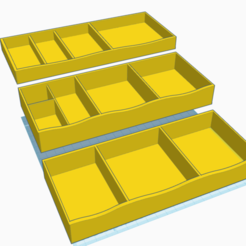 Free 3d printer designs Medicine Cabinet Trays, MeesterEduard