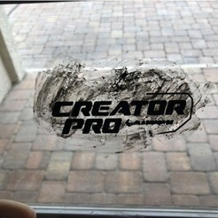 Download free 3D printer designs FlashForge Creator Pro Logo, MeesterEduard