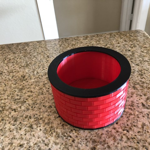 IMG_1851.jpg Download free STL file Brick Pattern Bowl • 3D printable template, MeesterEduard