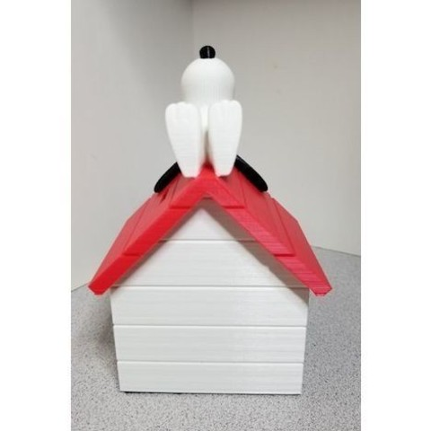 3728860547844f0420012bb15556257f_preview_featured.jpg Download free STL file Snoopy on Doghouse Bank • 3D print object, lowboydrvr