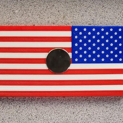20191208_064642.jpg Download free STL file Remix: US Flag Refrigerator Magnet (Multicolor) • 3D printing template, lowboydrvr