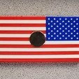 Download free 3D printing models Remix: US Flag Refrigerator Magnet (Multicolor), lowboydrvr