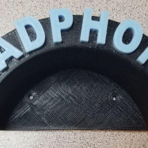 Download free 3D printer model Headphones Wall Mount (Remix), lowboydrvr