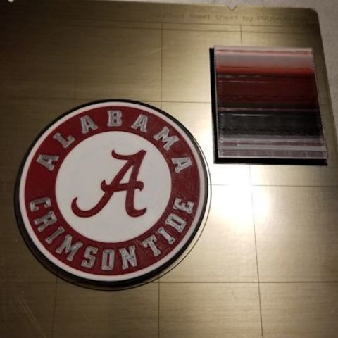 Free 3D printer files Alabama Crimson Tide Fridge Magnet (4 colors), lowboydrvr