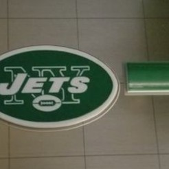 Download free STL files NY Jets Fridge Magnet (2 colors), lowboydrvr