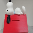 Free 3D printer designs Snoopy on Doghouse Bank, lowboydrvr