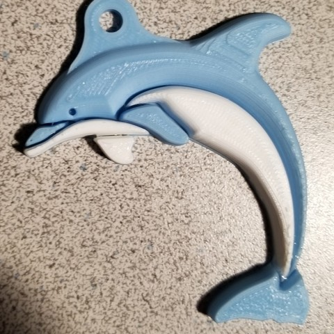 Free 3D print files 2-Color Dolphin (Remix) Key Chain, lowboydrvr