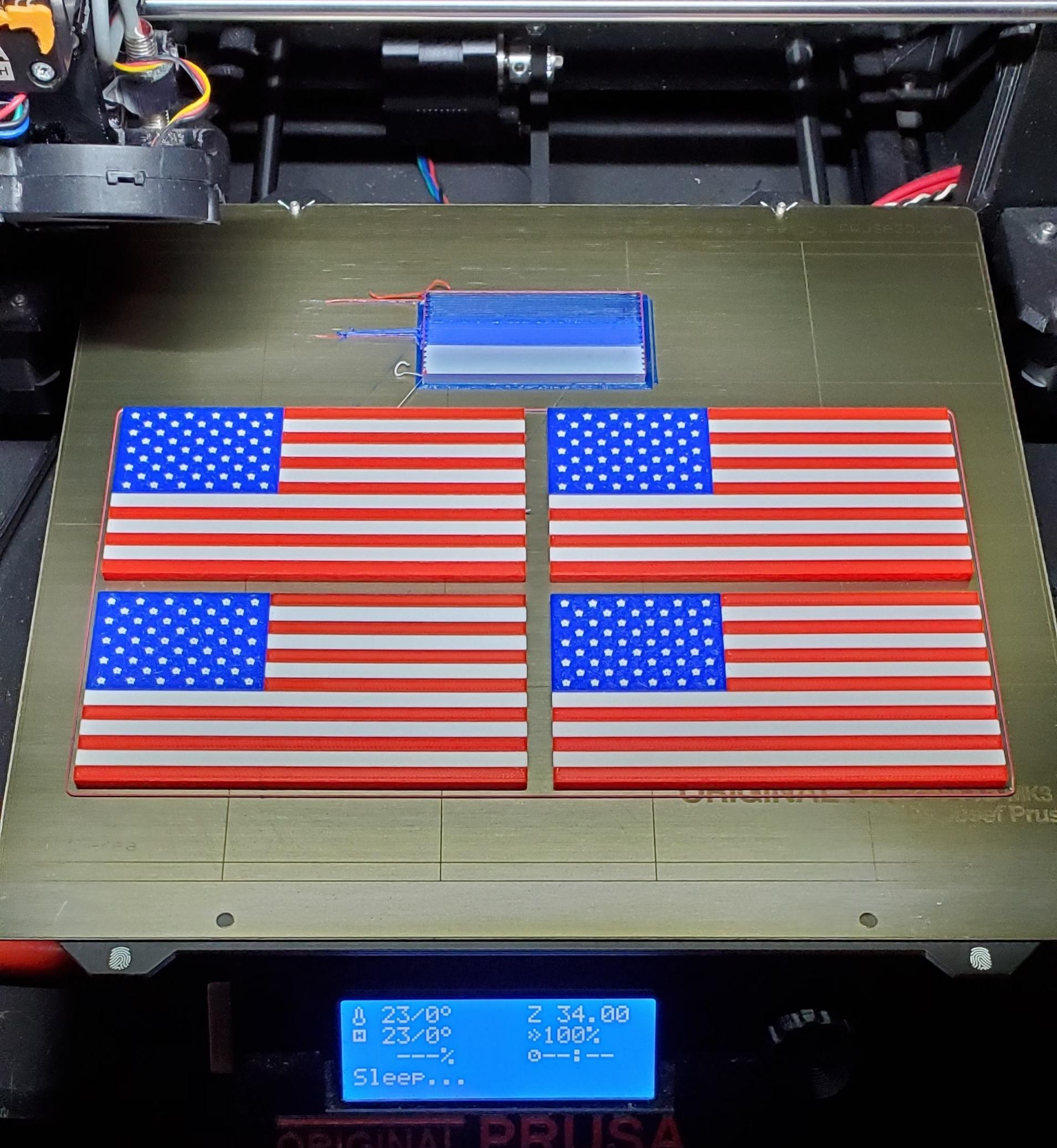 20191208_064730.jpg Download free STL file Remix: US Flag Refrigerator Magnet (Multicolor) • 3D printing template, lowboydrvr