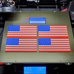 20191208_064730.jpg Download free STL file Remix: US Flag Refrigerator Magnet (Multicolor) • 3D printing template, lowboydrvr
