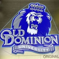 Download free STL files Old Dominion University (ODU) Logo - 4 Colors, lowboydrvr