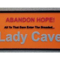 Free 3D file Lady Cave Sign Remixed - 4 Colors, lowboydrvr
