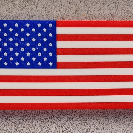20191208_064708.jpg Download free STL file Remix: US Flag Refrigerator Magnet (Multicolor) • 3D printing template, lowboydrvr