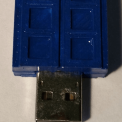 Download free 3D printing templates Tardis - USB Front Cover, lowboydrvr