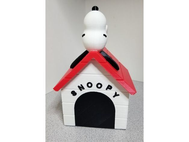 cd1b2ce616bdb577d13facfe24d33983_preview_featured.jpg Download free STL file Snoopy on Doghouse Bank • 3D print object, lowboydrvr