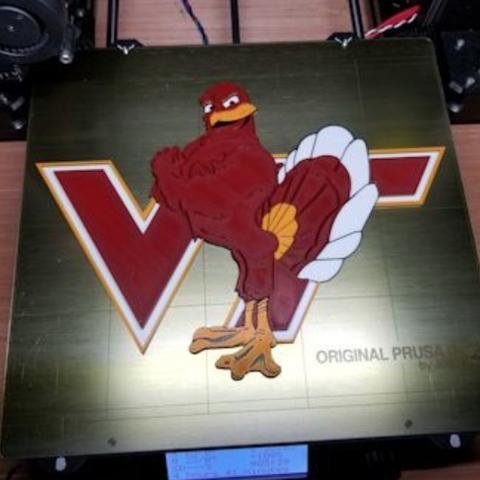 Free STL Virginia Tech Logo - 4 Colors, lowboydrvr