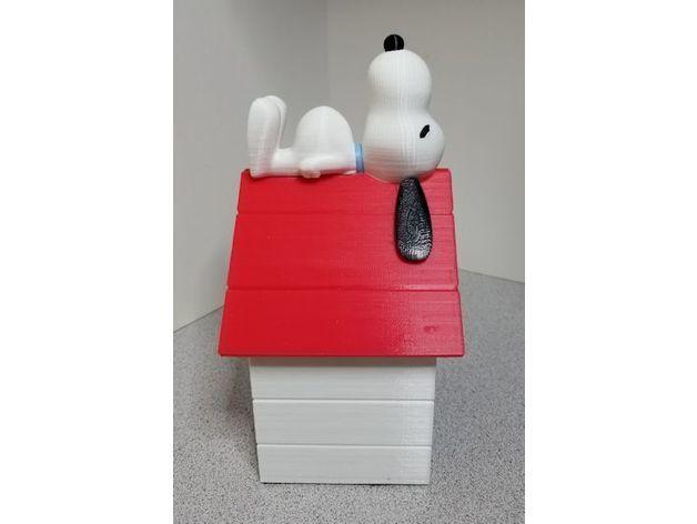 bc6f5371a3616bc269b10e05edc7e622_preview_featured.jpg Download free STL file Snoopy on Doghouse Bank • 3D print object, lowboydrvr