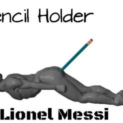 STL Pencil Holder of Lionel Messi, FacaDesign