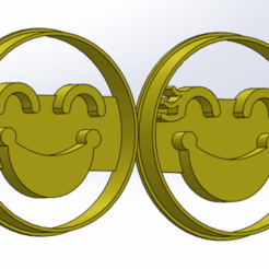 Descargar modelos 3D Happy SHE&HE cookie cutter, enkylock