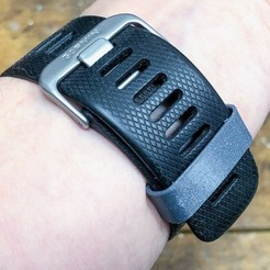 IMG_3343.jpg Download free STL file Garmin Vivoactive HR strap keeper • Template to 3D print, 3DPrintDad