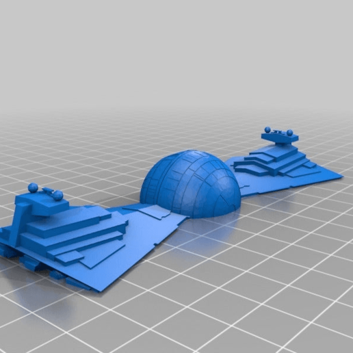 b738797765dd1485e3901f11eefbee83.png Download free STL file Death Star Destroyer Bow Tie • 3D printer template, 3DPrintDad