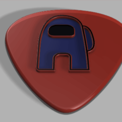 Schermata 2020-10-08 alle 18.20.37.png Download STL file Among Us Guitar Pick • 3D print design, Upstair26