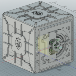 3D printer file Mechanical safe with coded lock, DarkDenis