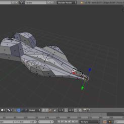 Download 3D printer model Vintage low poly spaceship, Puf