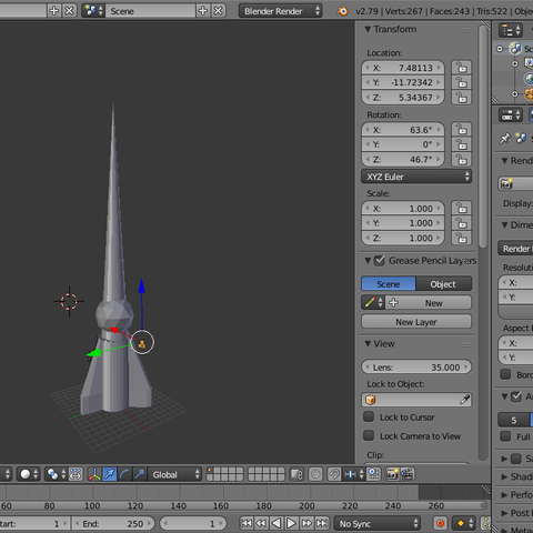2.png Download OBJ file Low poly game ready rocket • 3D printing object, Puf