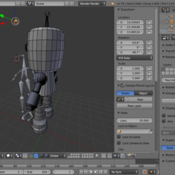Roboto- the friendly robot 3D model, Puf