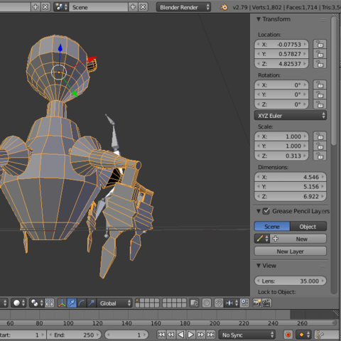 SentinelL2.png Download 3DS file Sentinel robot - Rawly • 3D printing template, Puf
