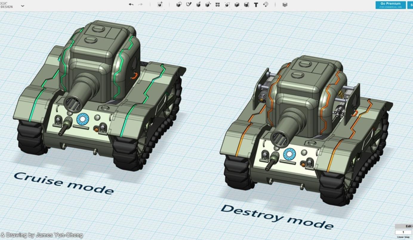 Capture d'écran 2018-01-17 à 14.21.04.png Download free STL file Future Bear - M5A1 Ultra Evolution • 3D printing design, cycstudio