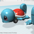 Free STL files My 123D Design Portfolio - Squirtle pull-back car toy, cycstudio