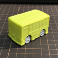 Download free 3D printer templates Bus pull-back car toy, cycstudio