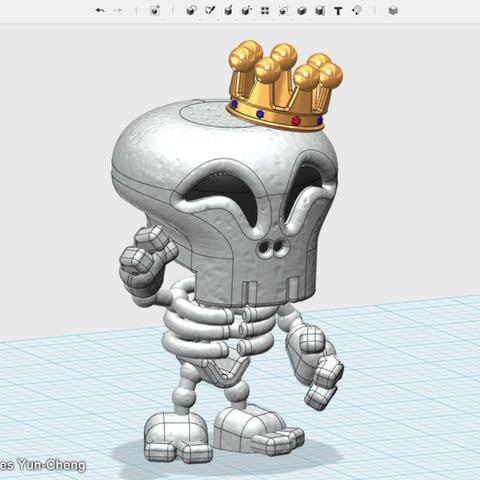 Capture d'écran 2018-01-17 à 12.29.45.png Télécharger fichier STL gratuit Figure de roi squelette • Modèle pour imprimante 3D, cycstudio