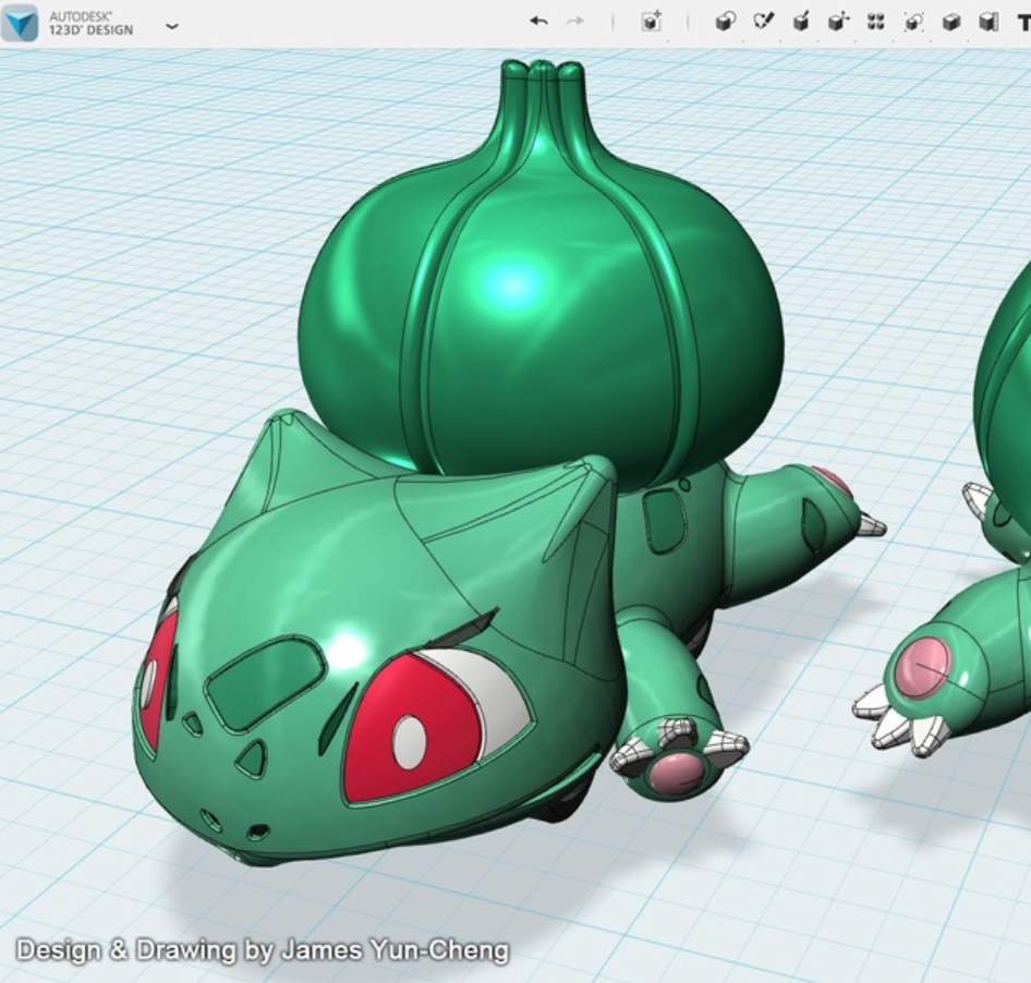Capture d'écran 2018-01-17 à 12.21.58.png Download free STL file Pokémon - Bulbasaur pull back car toy • 3D printing model, cycstudio