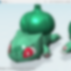 bulbasaurPBC-seed_freedownload.stl Télécharger fichier STL gratuit Pokémon - Bulbasaur tirer voiture jouet • Plan pour imprimante 3D, cycstudio