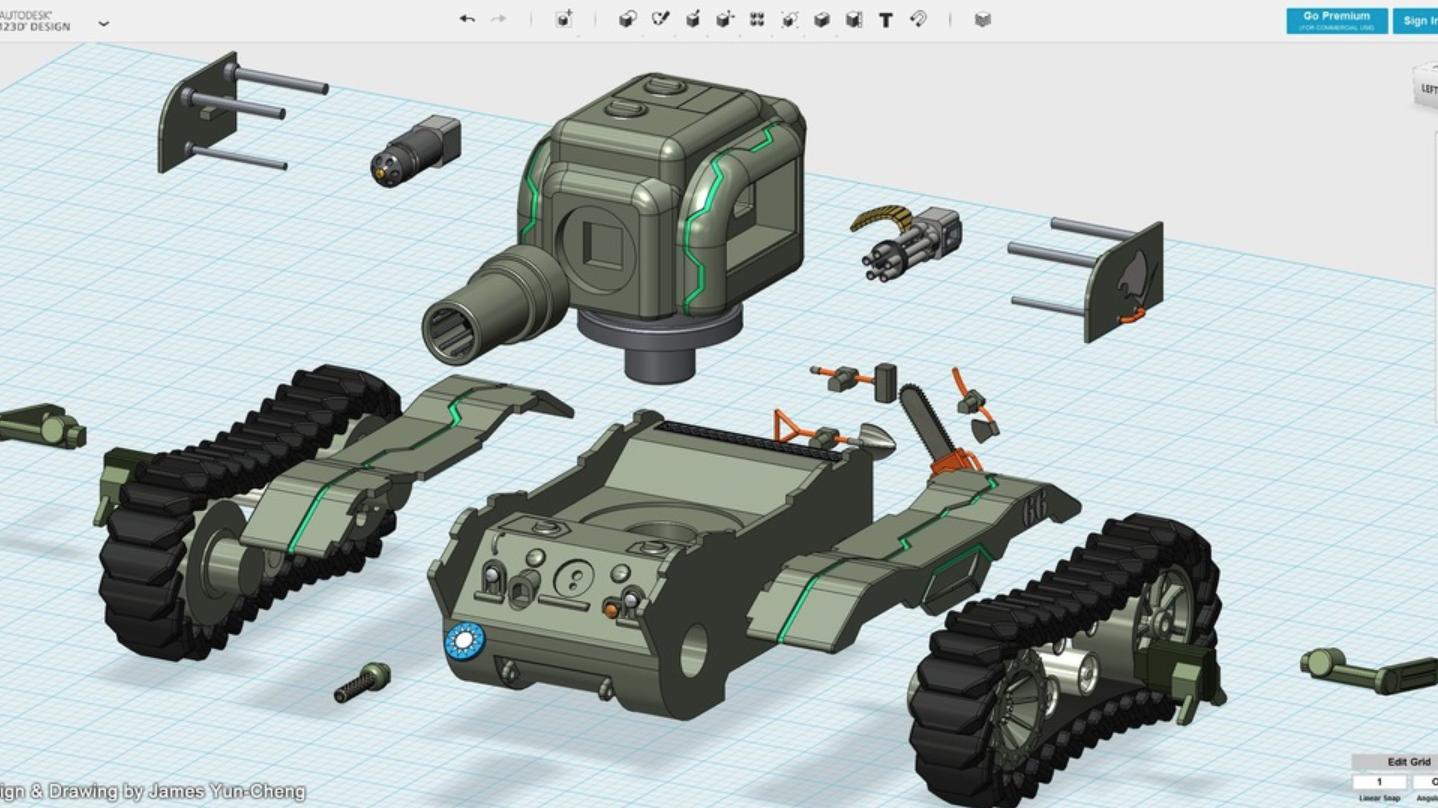 Capture d'écran 2018-01-17 à 14.21.08.png Download free STL file Future Bear - M5A1 Ultra Evolution • 3D printing design, cycstudio