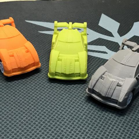 Free Sports Car pull-back car toy 3D printer file, cycstudio