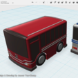 Free 3D printer designs Bus pull-back car toy, cycstudio