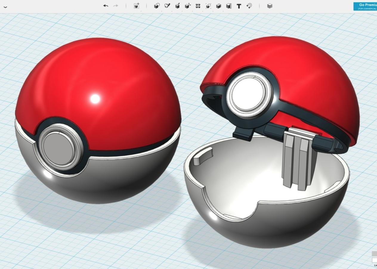 Capture d'écran 2018-01-17 à 12.17.29.png Download free STL file Poké Ball • 3D printable template, cycstudio
