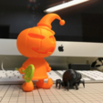 Free Pumpkin Wizard & Spider Figure 3D printer file, cycstudio