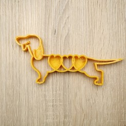 3d printer designs Cookie shape dog dachshund, pitboy