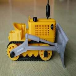 P1000494.JPG Télécharger fichier STL gratuit Vieux bulldozer V2 • Objet pour impression 3D, Nick_Groot