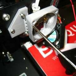 IMG_7993.JPG Télécharger fichier STL gratuit Conduit de ventilateur de refroidissement renforcé pour l'ender 2 • Modèle imprimable en 3D, Nick_Groot