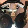 Archivos 3D gratis Star Wars auriculares Soporte, Touned