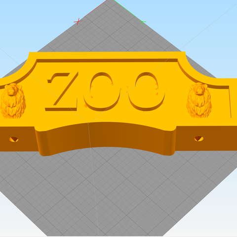 top simplify.png Download STL file Entry ZOO for children • 3D printing model, Touned
