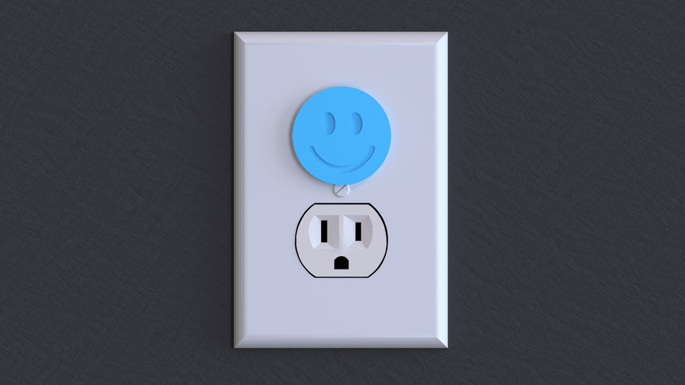 smiley render.png Download free STL file Plug Protectors! LIFE HACK • 3D printer model, samsuchin