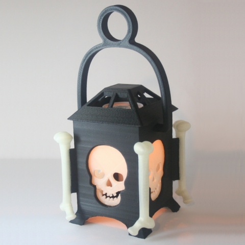 Free 3D printer files LED Skull Lantern, Festus440